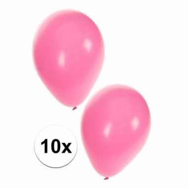 10 lichtroze ballonnen