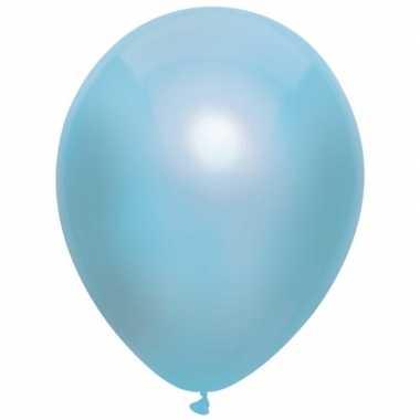 10x blauwe metallic ballonnen 30 cm