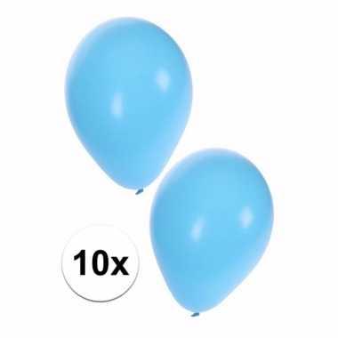 10x lichtblauwe ballonnen 25 cm