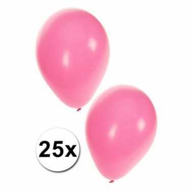 25 lichtroze ballonnen