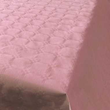2x lichtroze papieren tafellakens/tafelkleden 800 x 118 cm