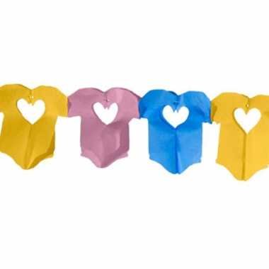 2x stuks baby slingers met gekleurde rompertjes van 6 meter