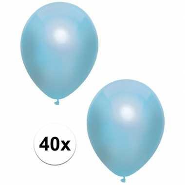 40x blauwe metallic ballonnen 30 cm