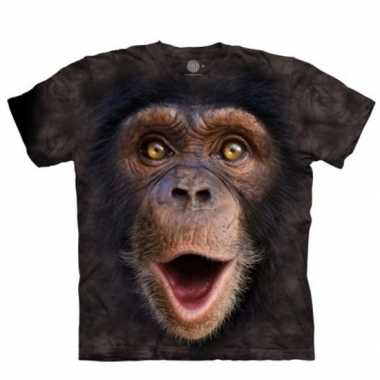 Aap t-shirt chimpansee jong voor kinderen