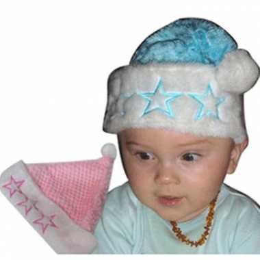 Baby kerst mutsje met sterren