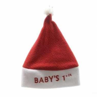Baby kerstmuts babys 1ste eerste kerst