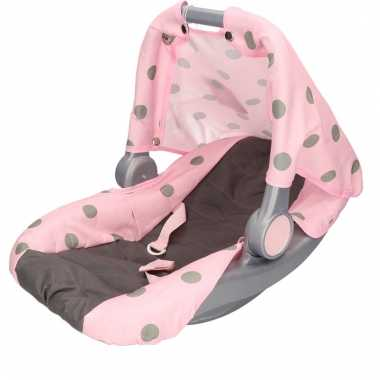 Baby poppen autostoeltje / maxicosi roze