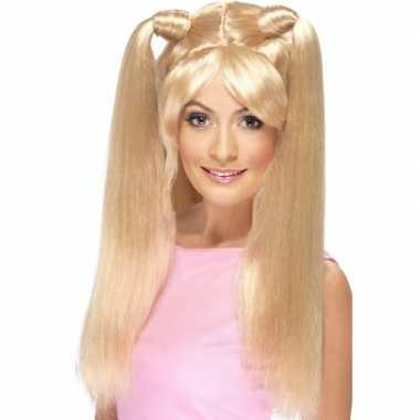 Baby power blonde pruik