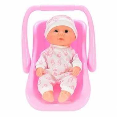 Babypop in draagstoel/maxicosi beertje