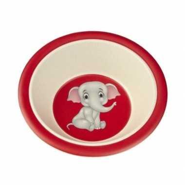 Bamboe ontbijtkom olifant voor kinderen 16 cm