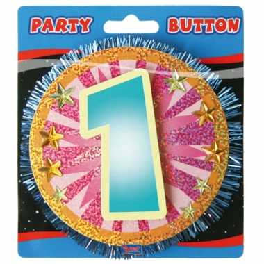 Button 1 jaar 3d