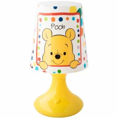 Disney winnie/tijgetje nachtlampje 19 cm kleurwisselend led lamp