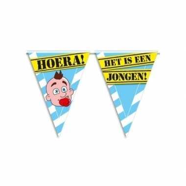 Geboorte vlaggenlijn jongen waarschuwingsbord 10mtr