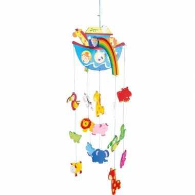 Hangdecoratie mobiel ark van noach voor meisjes
