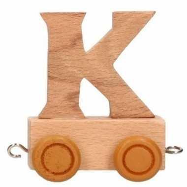 Houten letter trein k