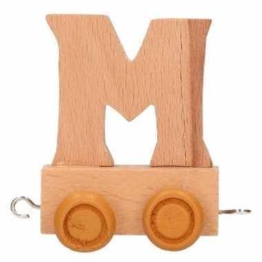 Houten letter trein m