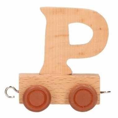 Houten letter trein p