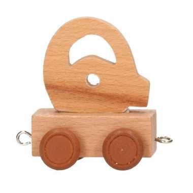 Houten letter trein q