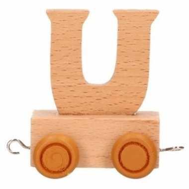 Houten letter trein u