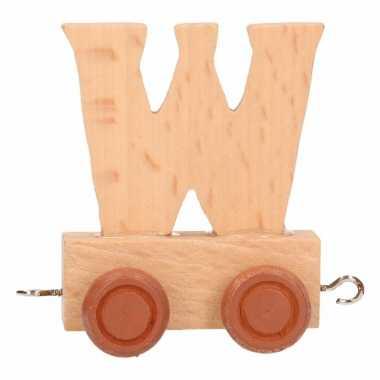 Houten letter trein w