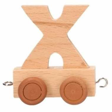 Houten letter trein x