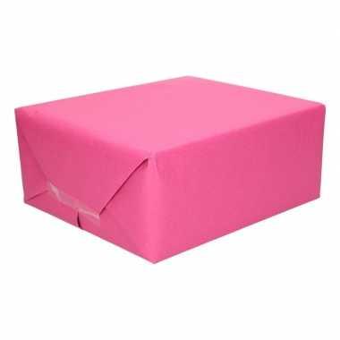 Inpakpapier kraft fuchsia roze 200 x 70 cm op rol