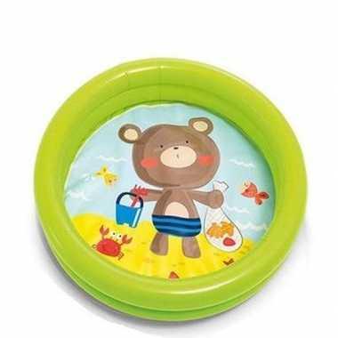 Intex peuter/kinder opblaas zwembad groen 61 cm