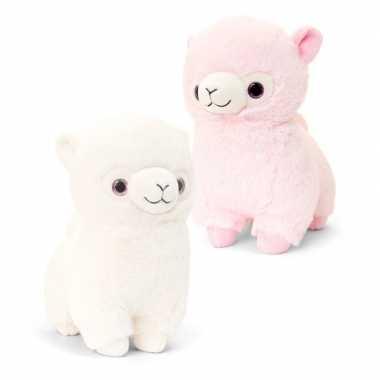 Keel toys pluche roze alpaca lama 20 cm