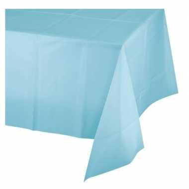 Lichtblauw babyshower/geboorte tafelkleed 137 x 274 cm plastic