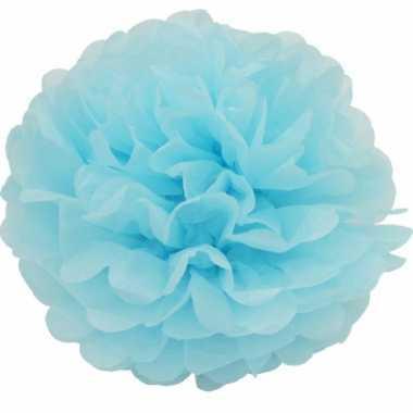Lichtblauwe decoratie pompom 35 cm
