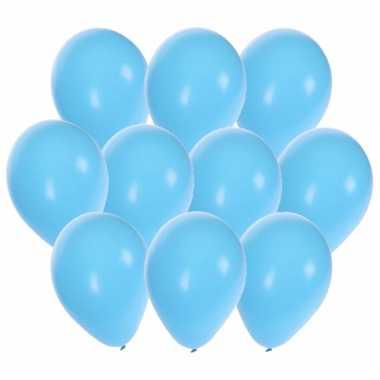 Lichtblauwe party ballonnen 45x stuks 27 cm
