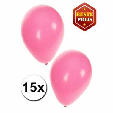 Lichtroze ballonnen 15 stuks
