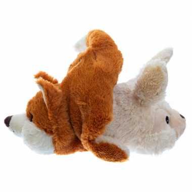 Magnetron warmte knuffel konijn en vos 2-in-1 30 cm