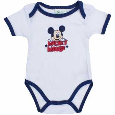 Mickey korte mouw rompertje wit/navy