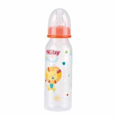 Oranje nuby baby drinkfles met leeuw 240 ml