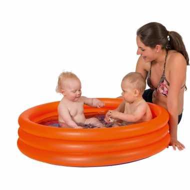 Oranje opblaasbaar zwembad 122 x 23 cm speelgoed