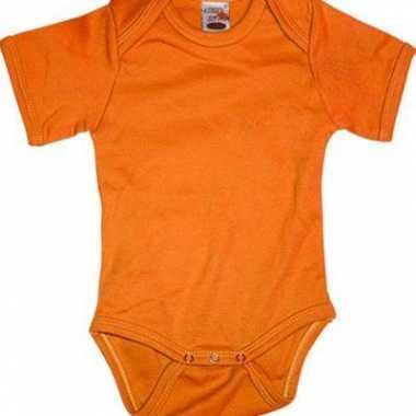 Oranje rompertje korte mouwtjes