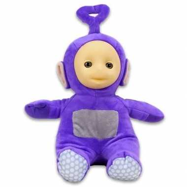 Paarse teletubbies tinky winky speelgoed knuffel/pop 26 cm