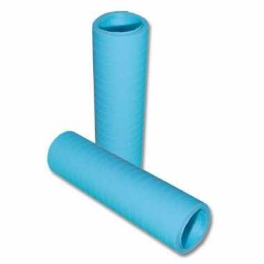 Pakket van 10x stuks rolletjes serpentines lichtblauw 4 meter