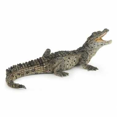 Plastic/rubber krokodil 10 cm