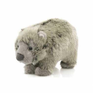 Pluche baby wombat 15 cm