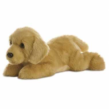 Pluche blonde labrador honden knuffel 30 cm speelgoed