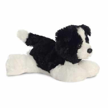 Pluche border collie honden knuffel 20 cm speelgoed