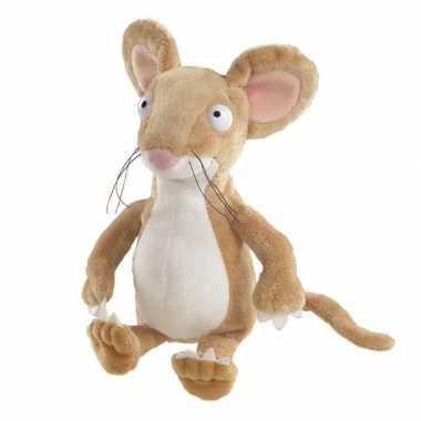 Pluche bruine muis/muizen knuffel 23 cm speelgoed