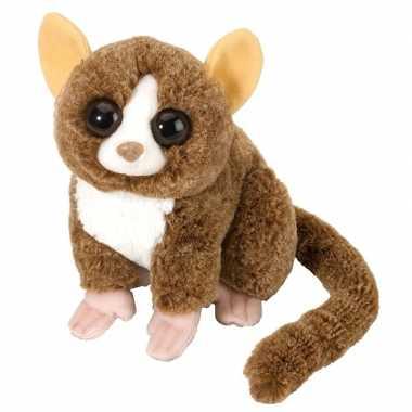 Pluche bruine spookdiertje muismaki knuffel 25 cm speelgoed