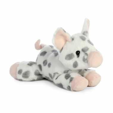 Pluche gevlekte varken big knuffel 20 cm speelgoed
