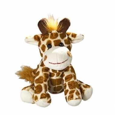 Pluche giraffe knuffel 18.5 cm