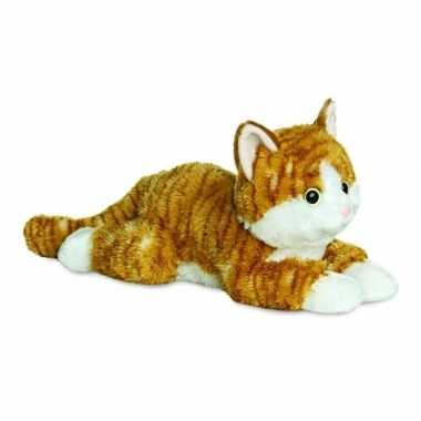 Pluche rode kat/kater/poes knuffel 30 cm speelgoed