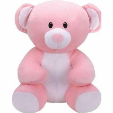 Pluche ty beanie roze beer/beren knuffel princess 17 cm