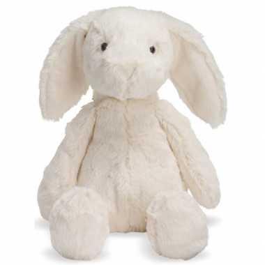 Pluche witte konijn riley 19 cm